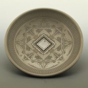 Curran, Dolores – Large Fully Incised Plate