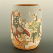 Garcia, Jason – Thor, Loki & Pueblo Warrior Jar