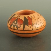 Tahbo, Mark  – Bowl with Butterfly Designs
