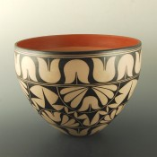 Holt, Lisa & Harlan Reano – Bowl with Wild Spinach Design