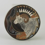 Moquino, Jennifer – Plate with Big Horn Sheep